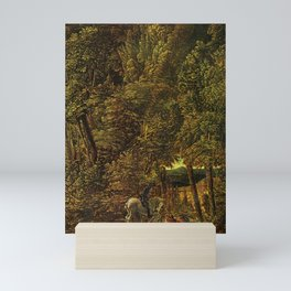 Albrecht Altdorfer - Countryside of Wood With Saint George Fighting the Dragon Mini Art Print