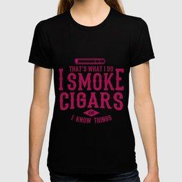 I SMOKE Cigar Aficionado Gift Cigar Smoker T-shirt