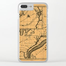 Map Of The Gulf Stream 1786 Clear iPhone Case