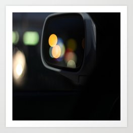 Bokeh at Night Art Print