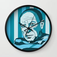 picasso Wall Clocks featuring Picasso by Alex Bardera