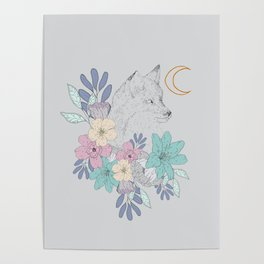Fox and Floral's Poster