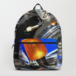 Headlight of road motorcycle bike classic Backpack