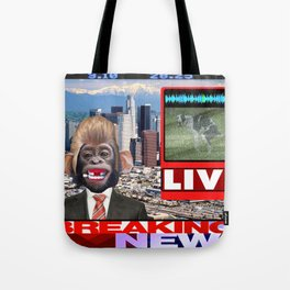 LIVE BREAKING NEWS Tote Bag