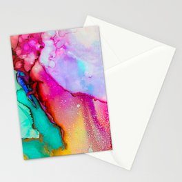 Watercolor spots Stationery Cards