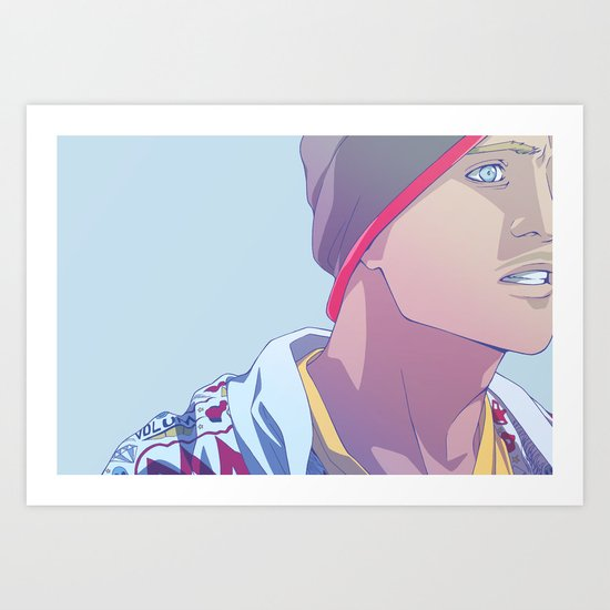Down (Jesse Pinkman - Breaking Bad) Art Print