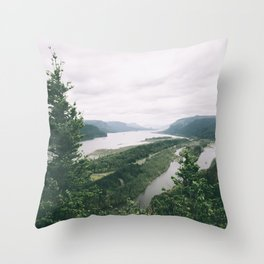Columbia River Gorge VII Throw Pillow