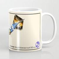engineer Mugs featuring Engineer Amphibianaut suit SO 1.0 by Uri Tuchman