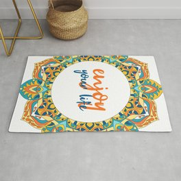 Tibetan mandala design - Enjoy your life Rug