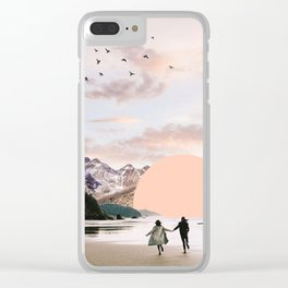 Running towards Freedom, 2018 Clear iPhone Case