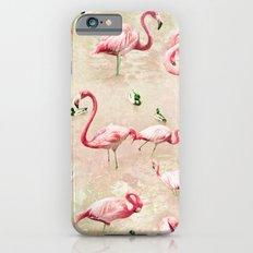 Flamingos Vintage Pink  Slim Case iPhone 6