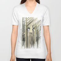 kurt rahn V-neck T-shirts featuring Kurt Melting by eyesdrippingink