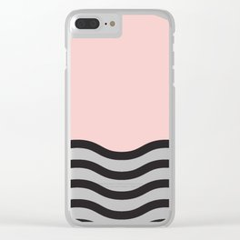 Waves of Pink Clear iPhone Case