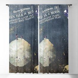 Men walk on Moon Astronauts Blackout Curtain