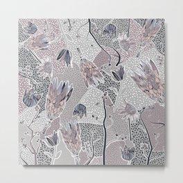 Collage of Australian wildflowers Metal Print
