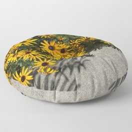 Susans And Cement Floor Pillow