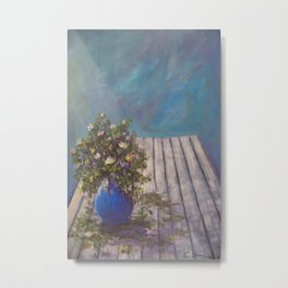 Wildflowers on a Wood Table AC141213 Metal Print