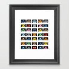 Rainbow Black Tapes Framed Art Print