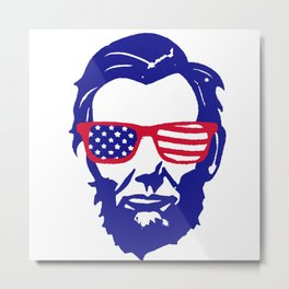 4th of July Lincoln Metal Print