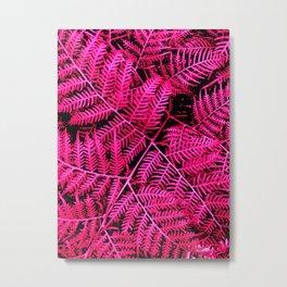Pink Bracken Metal Print