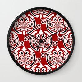 Three colors pattern Wall Clock