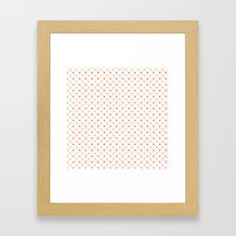 Criss Cross Dots Framed Art Print