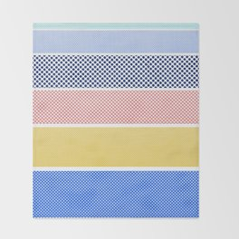 Halftone Stripes Throw Blanket
