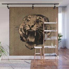 Vintage Tiger Wall Mural