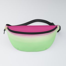 Modern abstract watermelon pink color block Fanny Pack