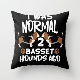 Dog Basset Hound Throw Pillow
