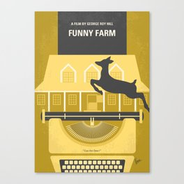 No959 My Funny Farm minimal movie poster Canvas Print