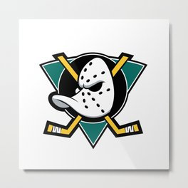 Mighty Ducks logo Metal Print