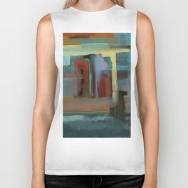 Abstract City, Southwestern Colors Biker Tank