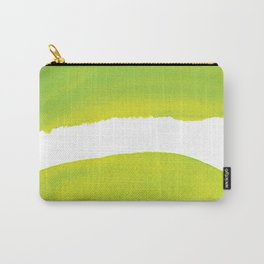 Abstract Chartreuse Artwork, Chartreuse Green Yellow Watercolor Carry-All Pouch