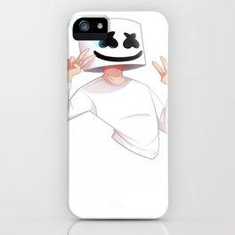 Marshmello Draw 1 iPhone Case