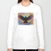 crow Long Sleeve T-shirts featuring Crow by Michael Creese