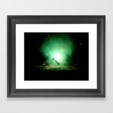 Straight To The Source Framed Art Print