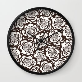 Rosaline: Brown Ivory Wall Clock
