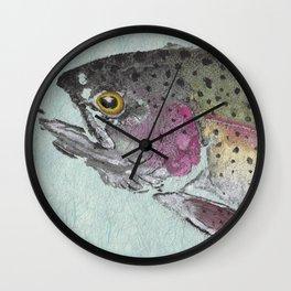 Rainbow Trout - Gyotaku Wall Clock