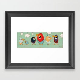 Tweet-tweets (long) Framed Art Print