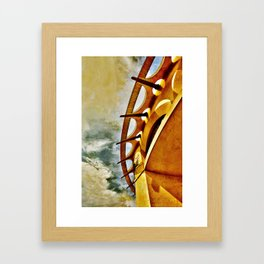 Greek To Me Framed Art Print