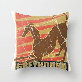 Greyhound dog gift greyhound pet animal Throw Pillow