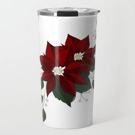 Nochebuena Poinsettia Travel Mug