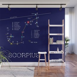 Zodiac Constellation Scorpius. Real Color Of The Stars Wall Mural