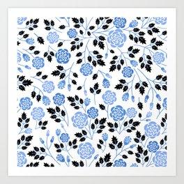 Spring Blues - Roses Art Print