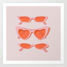 rose tinted Art Print