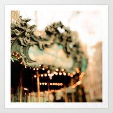 Dreamy Carousel  Art Print