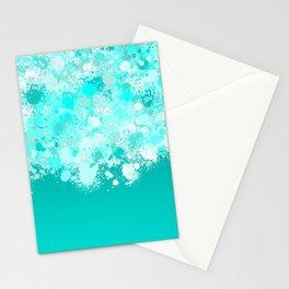 paint splatter on gradient pattern dri Stationery Cards