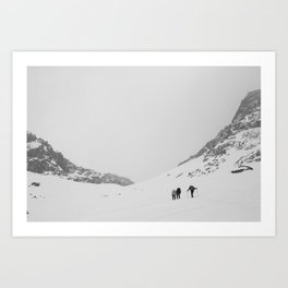 B&W Valley of the Arenas  Art Print
