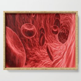 blood cells red medical Serving Tray